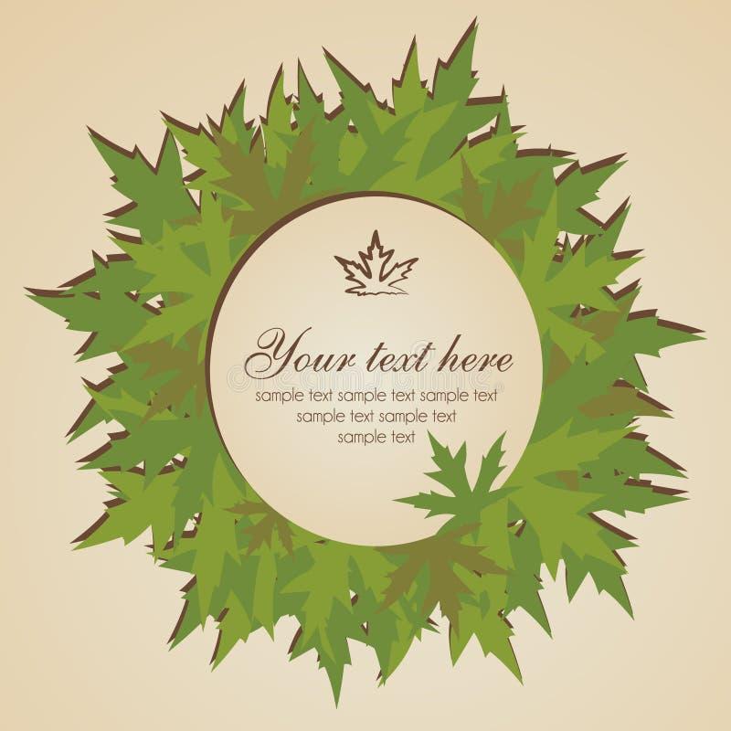 Bandera de las hojas de otoño