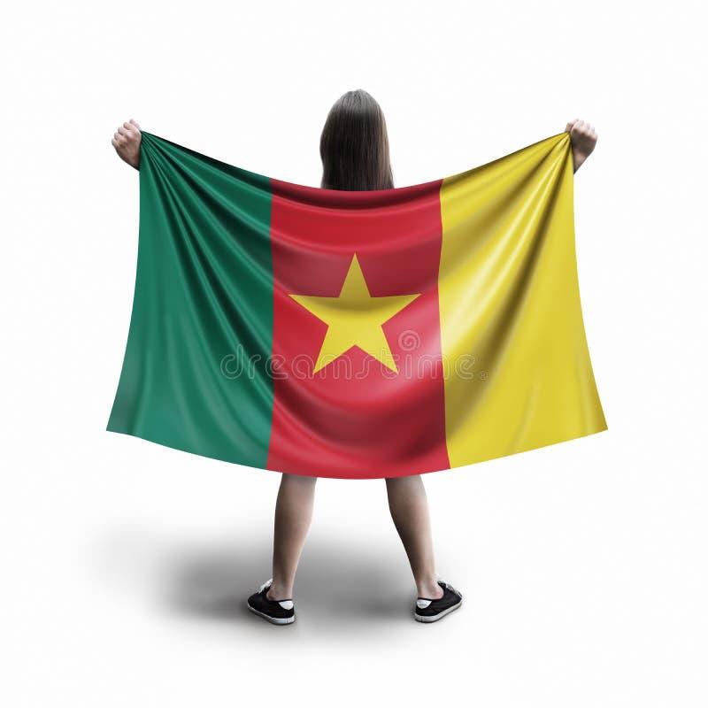 Bandera de las mujeres y del Camerún imágenes de archivo libres de regalías