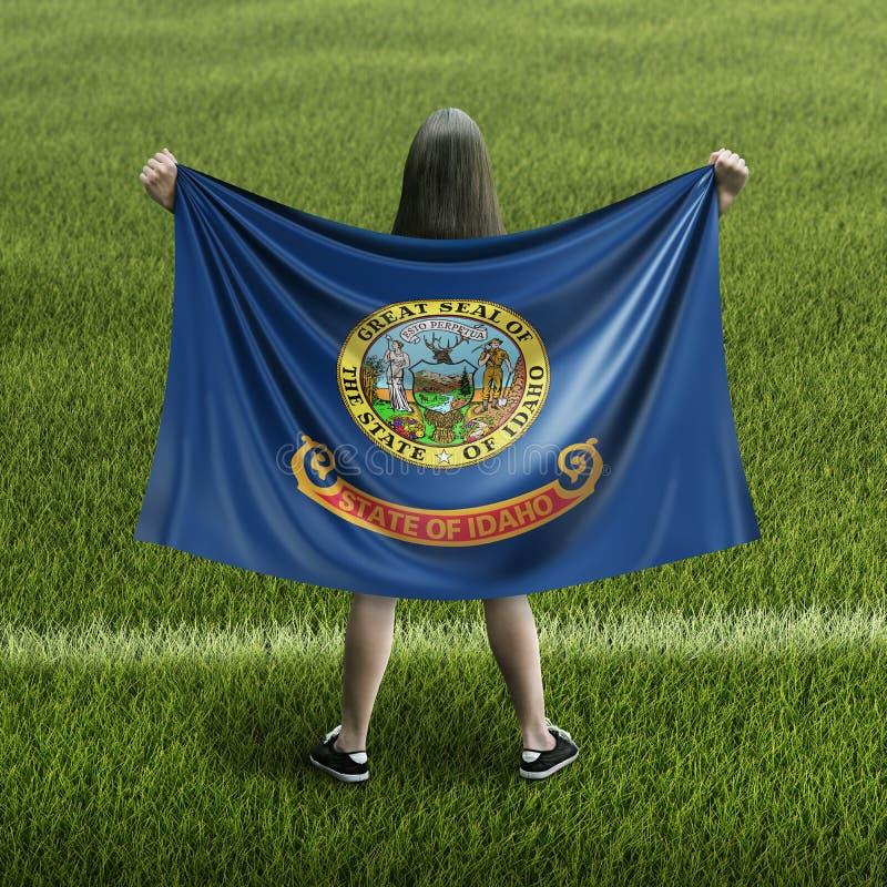 Bandera de las mujeres y de Idaho imágenes de archivo libres de regalías