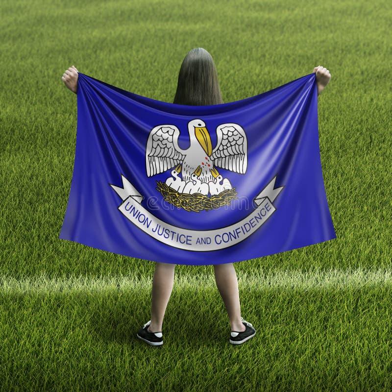 Bandera de las mujeres y de Luisiana imagen de archivo libre de regalías