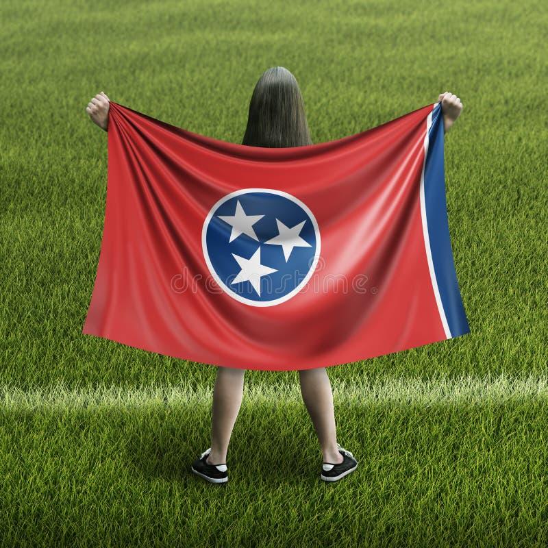 Bandera de las mujeres y de Tennessee ilustración del vector