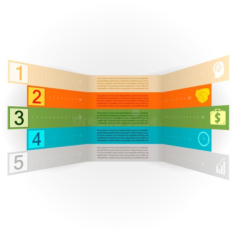 Bandera de las opciones de Infographics con vector de los iconos libre illustration