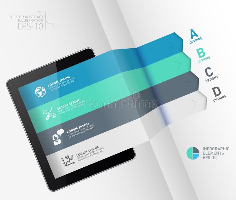 Bandera de las opciones del estilo de la papiroflexia del negocio de Infographic stock de ilustración