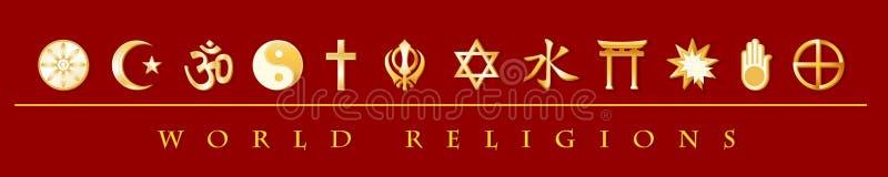 Bandera de las religiones del mundo ilustración del vector