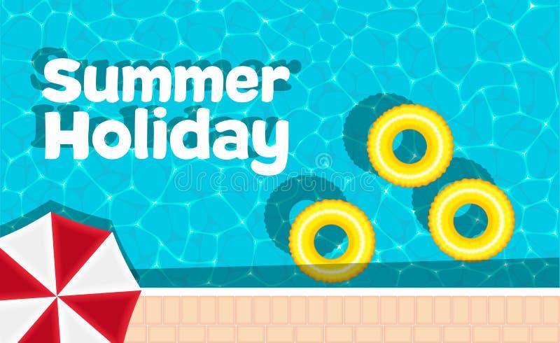 Bandera de las vacaciones de verano con el espacio para el texto libre illustration