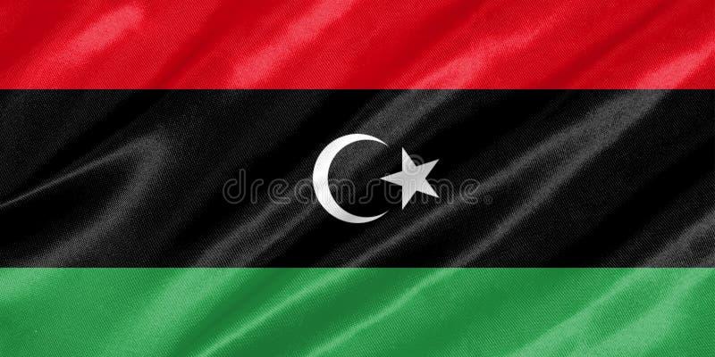 Bandera de Libia stock de ilustración
