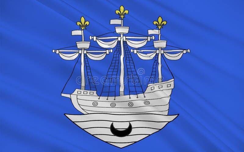 Bandera de Libourne, Francia fotos de archivo