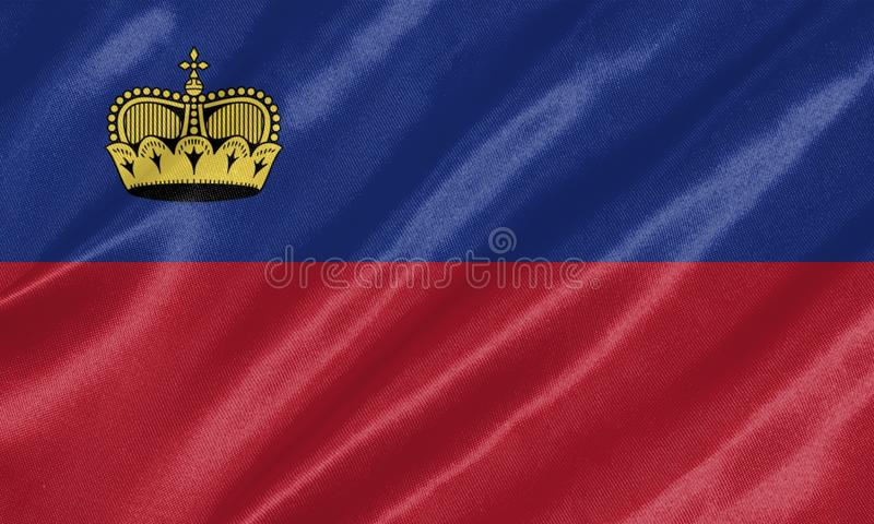 Bandera de Liechtenstein libre illustration