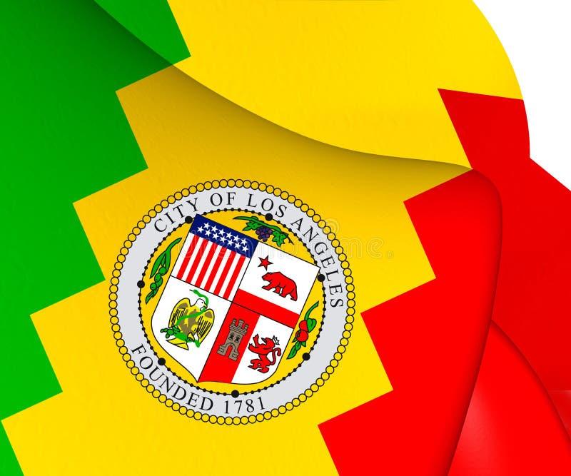 Bandera de Los Ángeles, los E.E.U.U. ilustración del vector