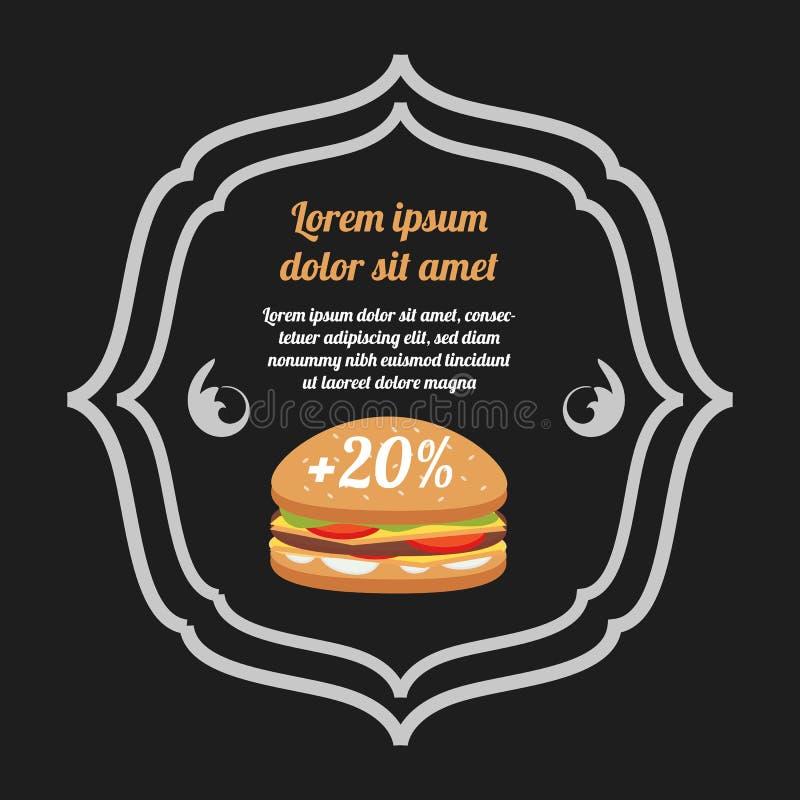 Bandera de los alimentos de preparación rápida libre illustration