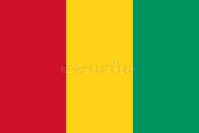 Bandera de los colores y de las proporciones oficiales, imagen de Guinea libre illustration