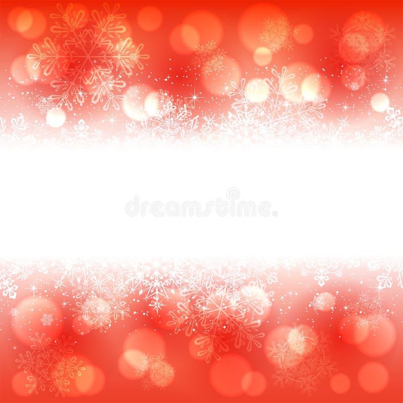 Download Bandera De Los Copos De Nieve En Fondo Rojo Ilustración del Vector - Ilustración de frontera, anaranjado: 41909598