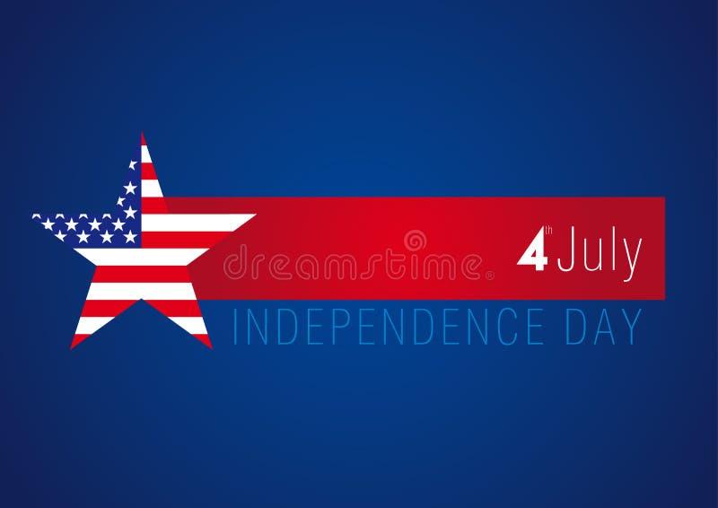 Bandera de los E.E.U.U. del Día de la Independencia libre illustration