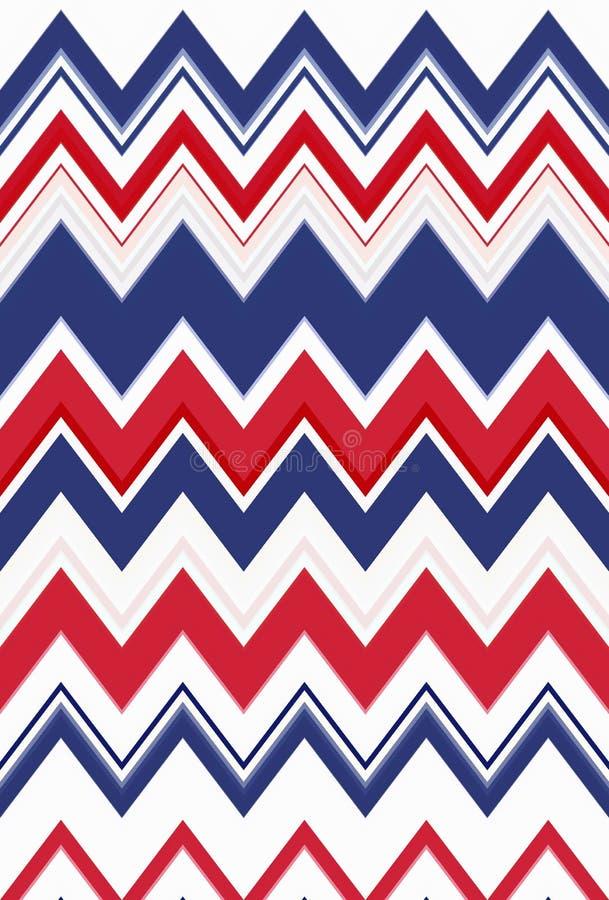Bandera de los E.E.U.U. del color de fondo de arte abstracto del modelo de zigzag de Chevron stock de ilustración