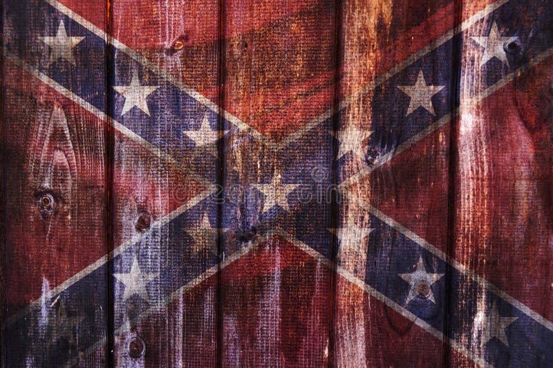 Bandera de los estados de América confederados ilustración del vector