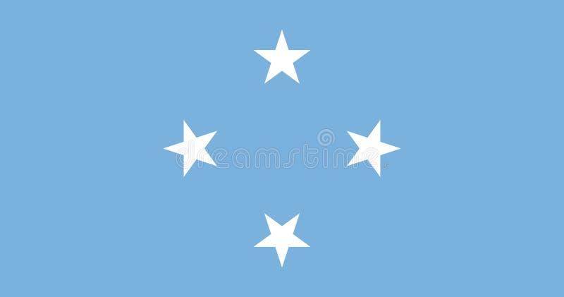 Bandera de los Federated States of Micronesia stock de ilustración