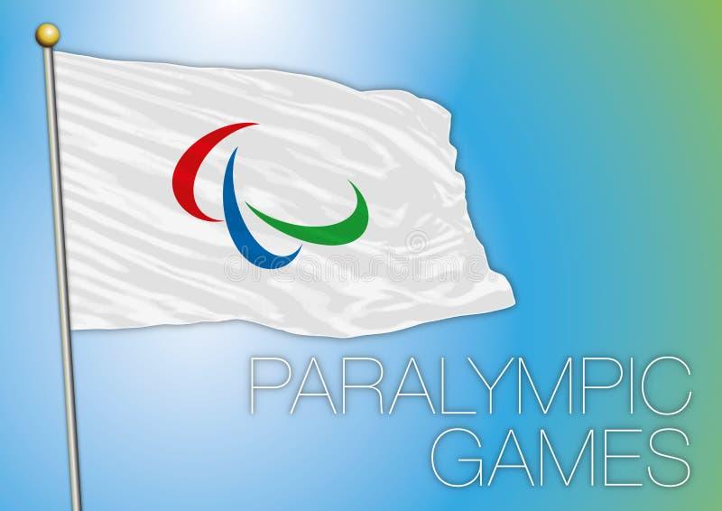 Bandera de los juegos de Paralympic libre illustration