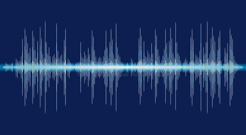 Bandera de los sonidos Equalizador del logotipo del color S?mbolo aislado del dise?o ilustración del vector