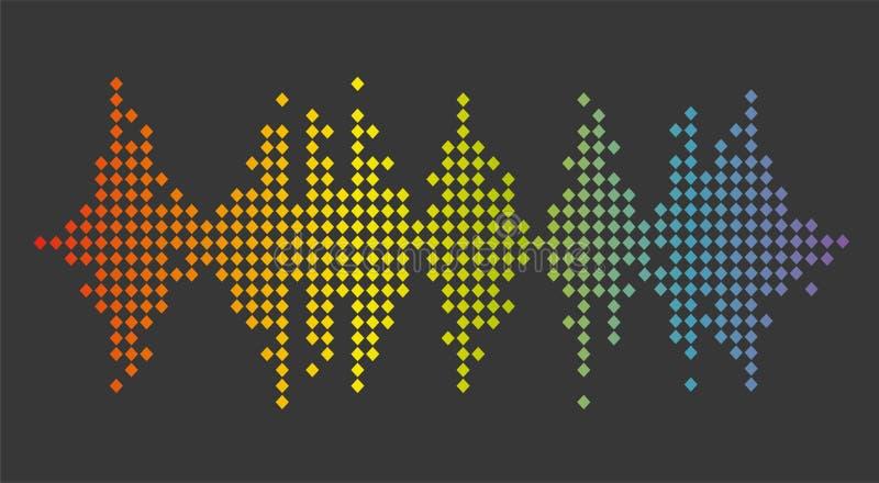 Bandera de los sonidos Equalizador del logotipo del color S?mbolo aislado del dise?o stock de ilustración