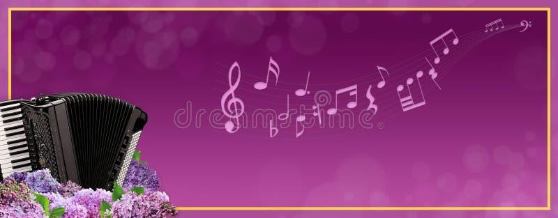 Bandera de lujo de la música ilustración del vector