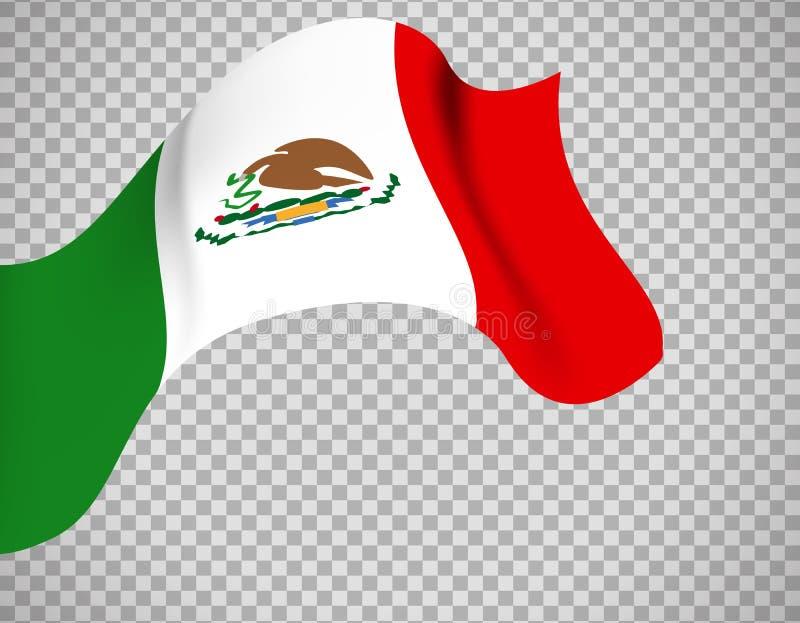 Bandera De México En Fondo Transparente Ilustración Del