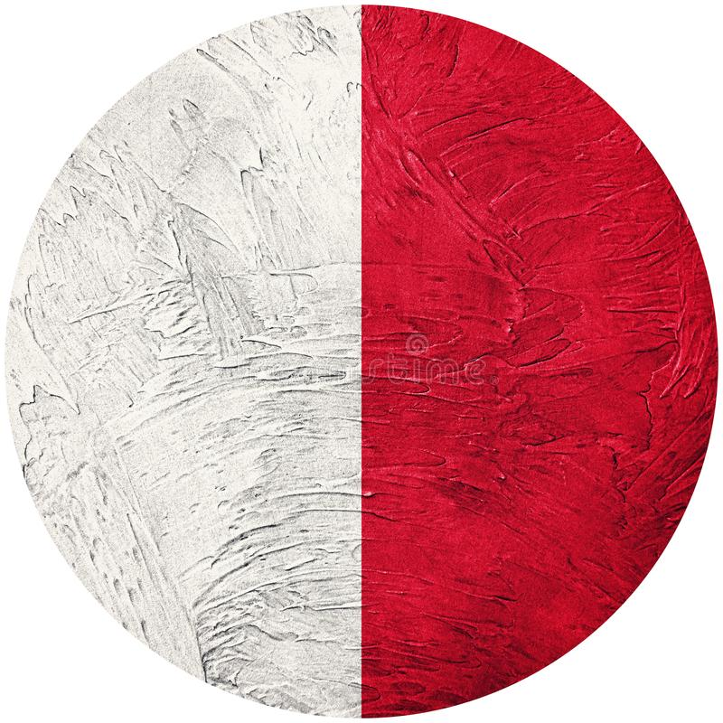 Bandera de Malta del Grunge Bandera del botón de Malta aislada en el backgroun blanco libre illustration