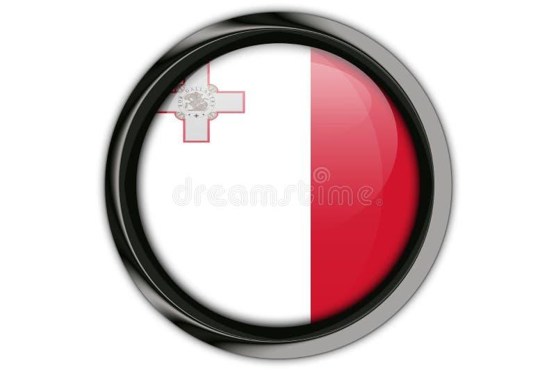Bandera de Malta en el perno del botón aislado en el fondo blanco stock de ilustración