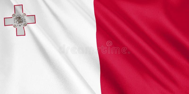 Bandera de Malta que agita con el viento libre illustration