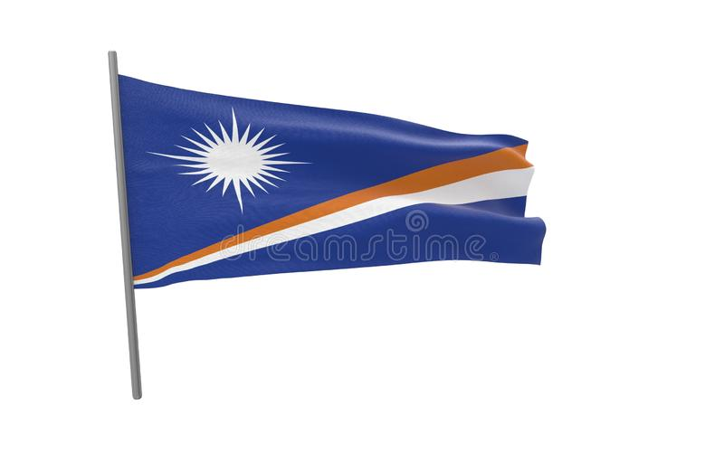 Bandera de Marshall Islands stock de ilustración