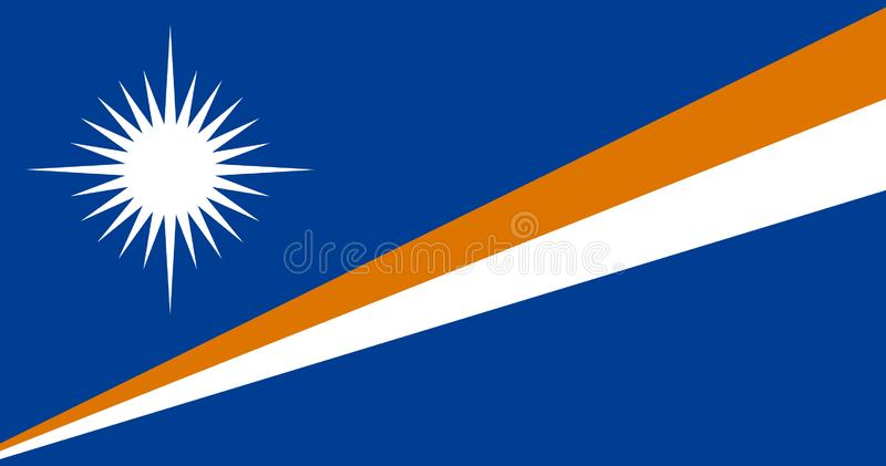 Bandera de Marshall Islands ilustración del vector
