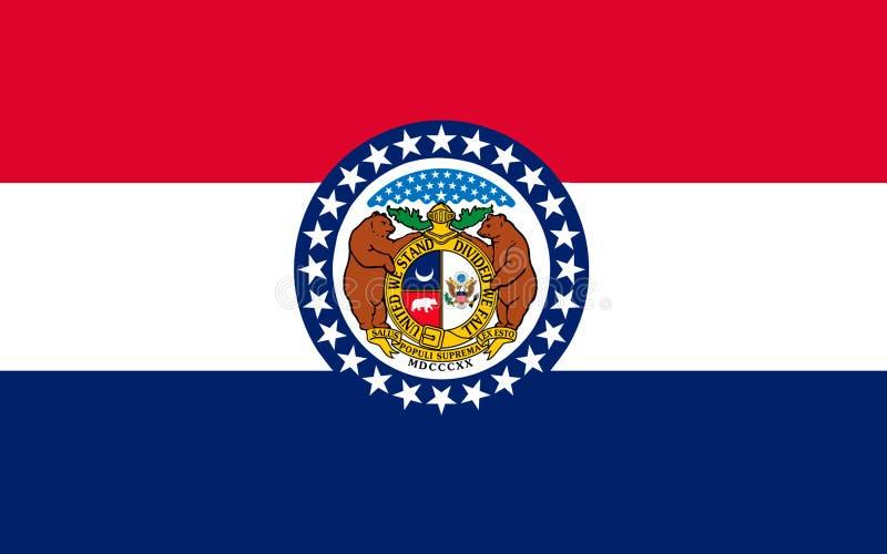 Bandera de Missouri, los E.E.U.U. fotografía de archivo