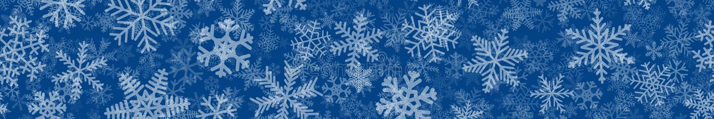 Bandera de muchas capas de copos de nieve ilustración del vector