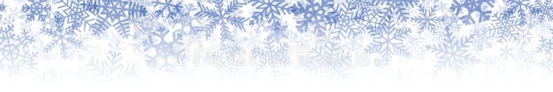 Bandera de muchas capas de copos de nieve stock de ilustración