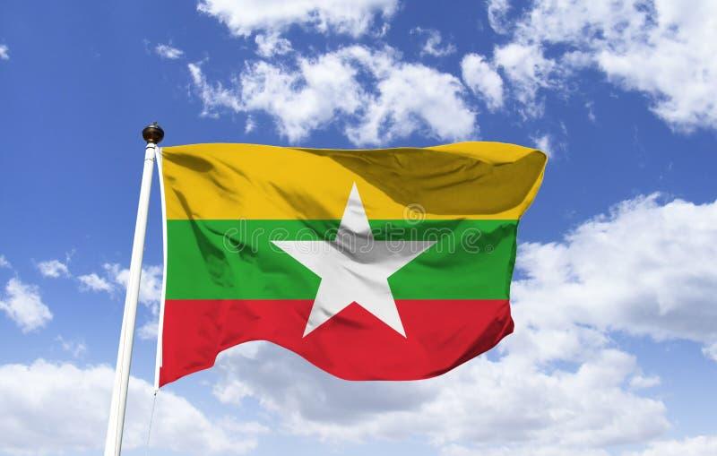 Bandera de Myanmar, país de Asia fotografía de archivo