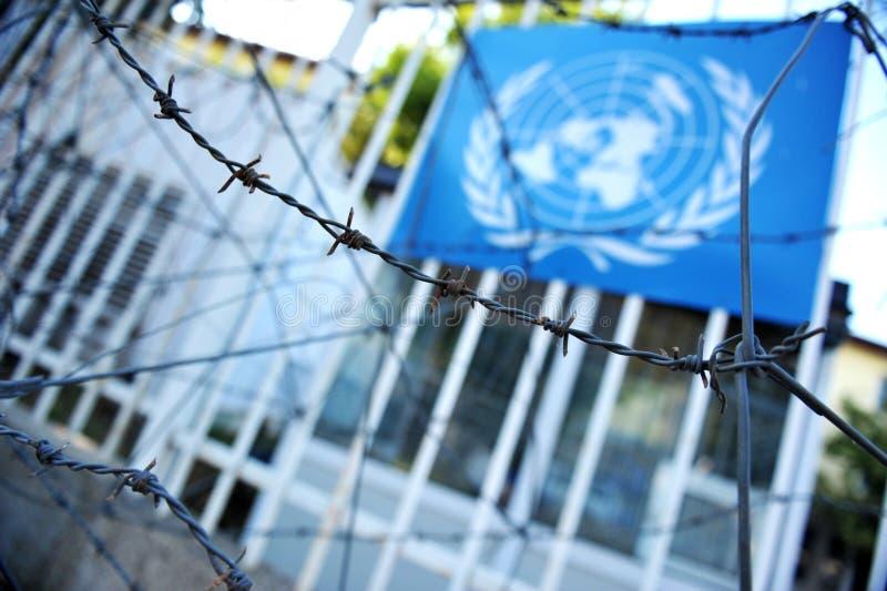 Bandera de Naciones Unidas fotografía de archivo