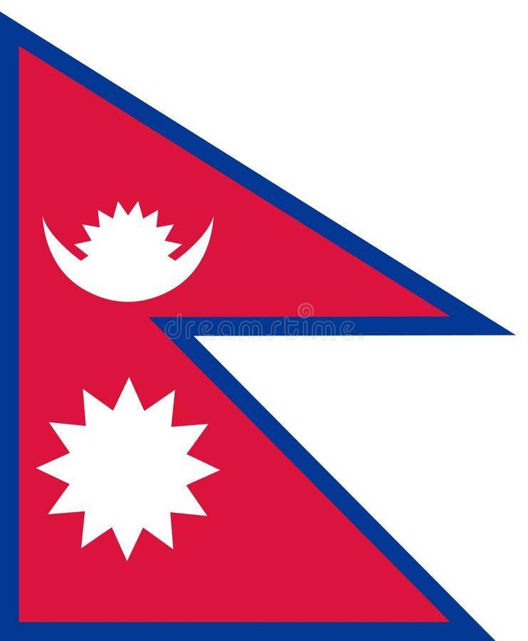 Bandera de Nepal en colores nacionales, libre illustration