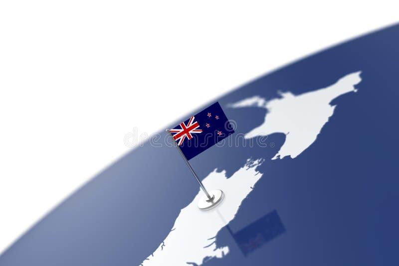 Bandera de Nueva Zelanda stock de ilustración