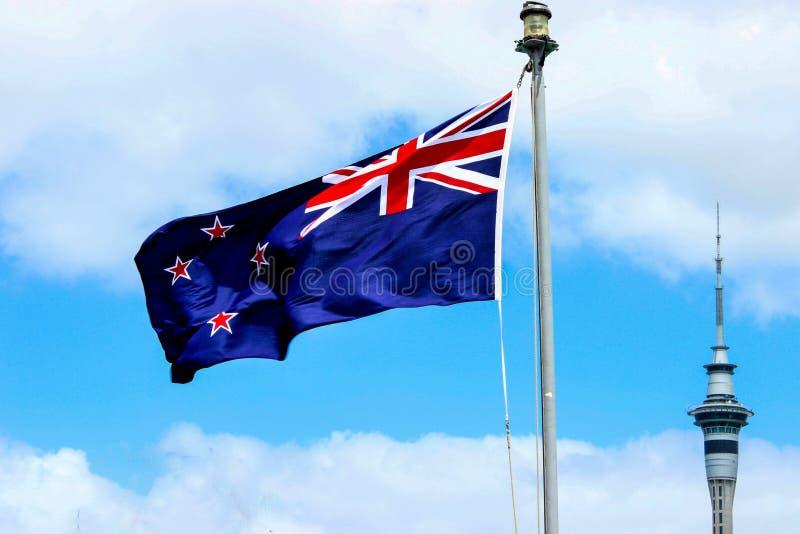 Bandera de NZ imagenes de archivo