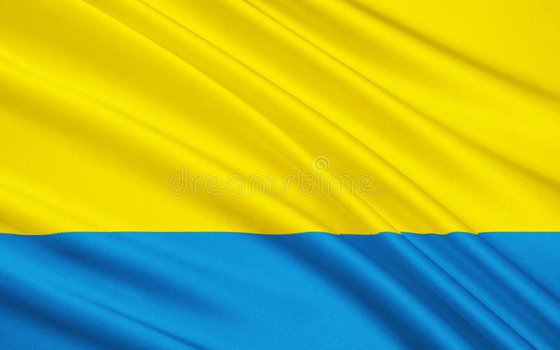 Bandera de Opole Voivodeship en Polonia fotos de archivo libres de regalías