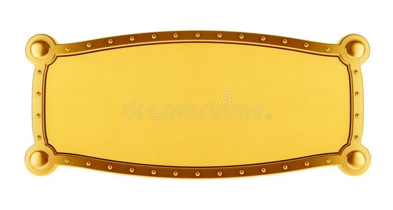 Bandera de oro stock de ilustración