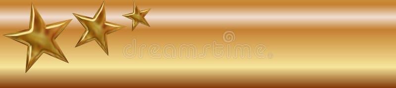Bandera de oro de las estrellas libre illustration