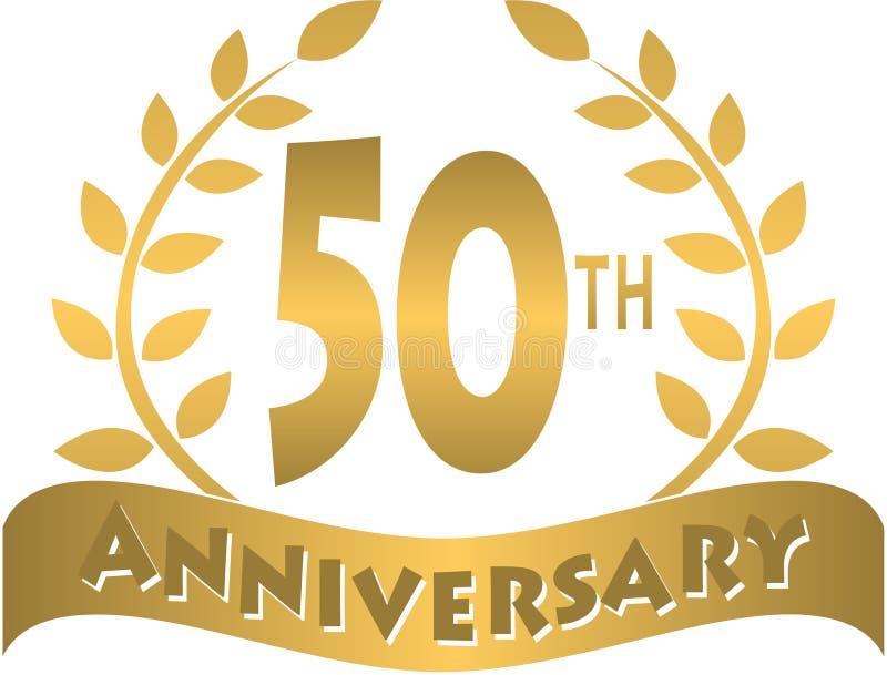 bandera de oro/EPS del aniversario ilustración del vector