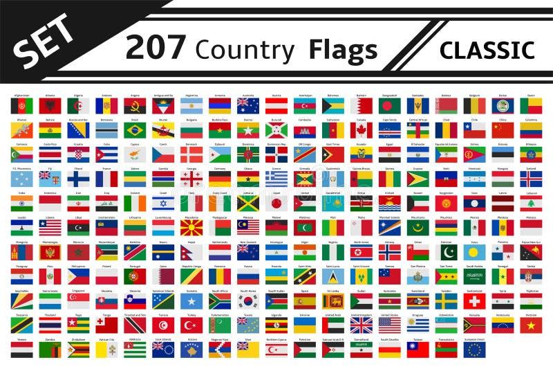 bandera de país 207 libre illustration