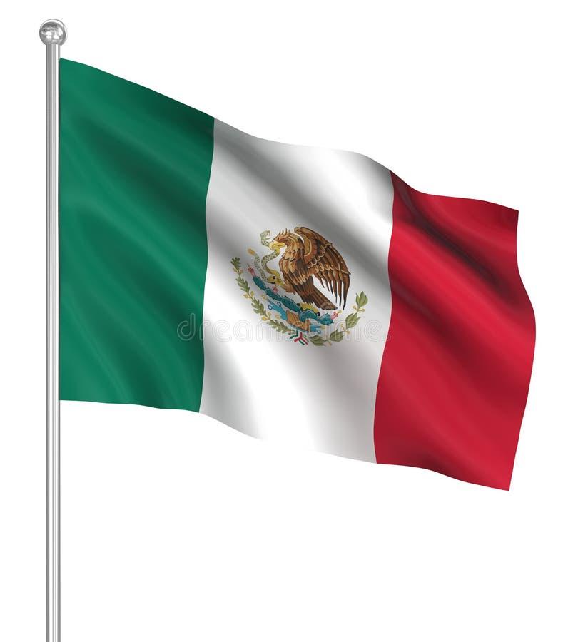 Bandera de país - México ilustración del vector