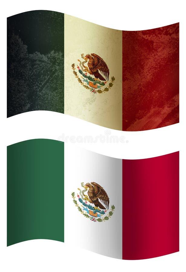 Bandera de país de Nueva Zelanda 3D, dos stylesMexican imagenes de archivo
