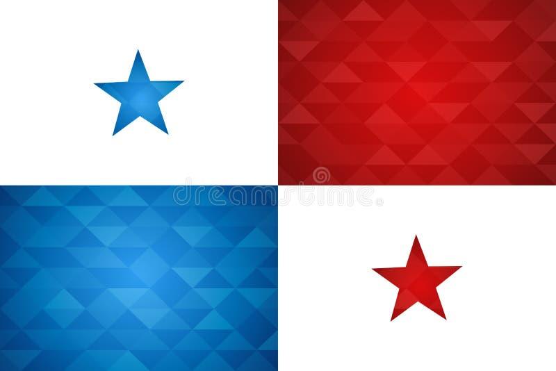 Bandera de país de Panamá de la nación panameña libre illustration