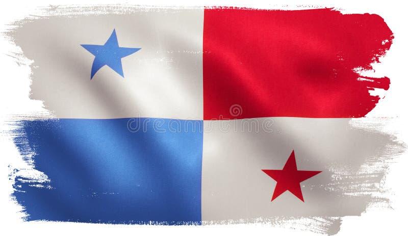Bandera de Panamá ilustración del vector