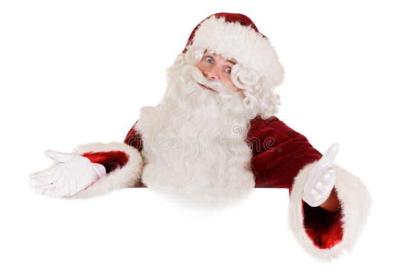 Bandera de Papá Noel imágenes de archivo libres de regalías