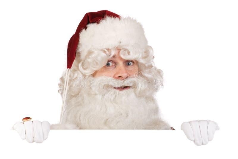 Bandera de Papá Noel fotos de archivo libres de regalías