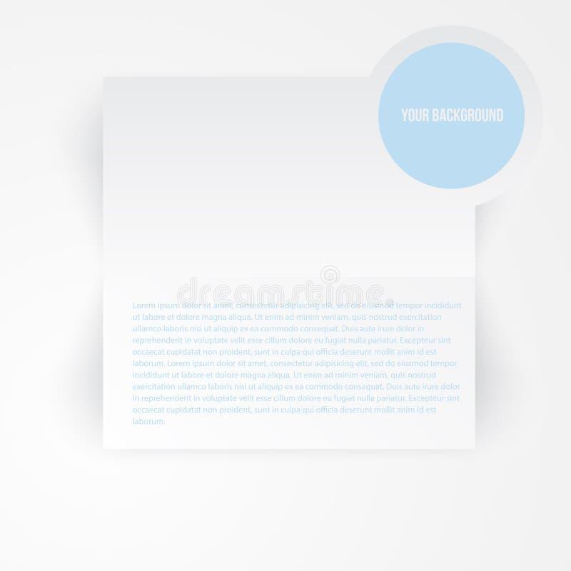 Bandera de papel de la plantilla del vector Nota blanca stock de ilustración